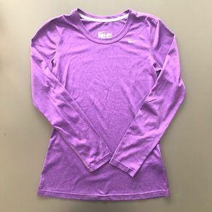 XS Nike Grape Purple Dri-Fit Long Sleeve t-shirt